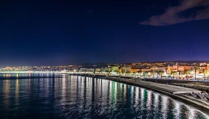 La Baie des Anges, Nice, La nuit