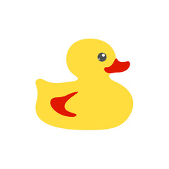 Yellow bath flat duck