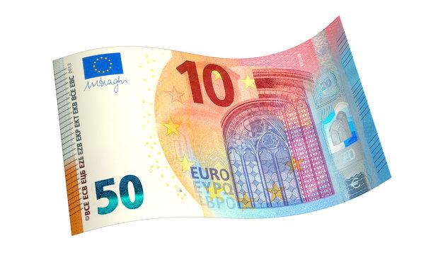 Collage Euroschein