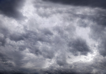 Gloomy sky with storm clouds