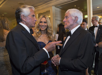 Actors Van Dyke, Hamilton and Stewart attend the 2014 Princess Grace Awards gala at the Beverly Wilshire Hotel in Beverly Hills