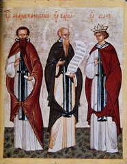 Icon of Athanasius of Athos, Barlaam and Josaphat