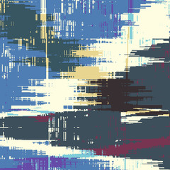 Abstract grunge vector background. Color  squared composition of irregular overlapping graphic elements.