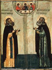 Icon Macarius the Wonderworker of Kalyazin and Alexander of Svir, the Wonderworker