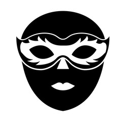 venice mask icon vector illustration graphic design