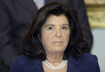 Italian Minister of Justice Paola Severino is seen at the Quirinale Palace in Rome