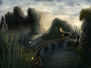 A leading path - Digital Painting