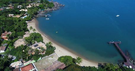 Aerial View of Ponta Azeda Beach in Ilhabela, Brazil