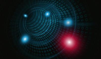サイバー攻撃ウイルス感染2:赤青色