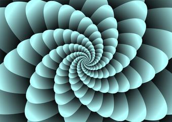 Abstract spiral illuzion
