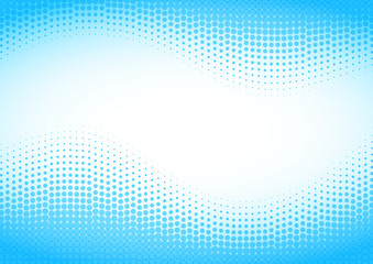 Blue halftone background.