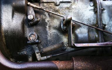 Dirty clutch mechanism on a vintage engine