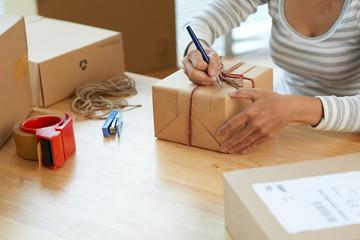 Writing on giftbox