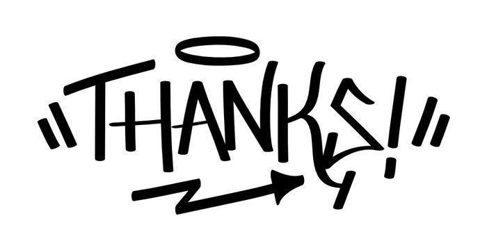 Vector Graffiti Tag THANKS!