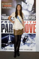 """Miss France 2010 Malika Menard arrives at the premiere of """"From Paris With Love"""" in Paris"""