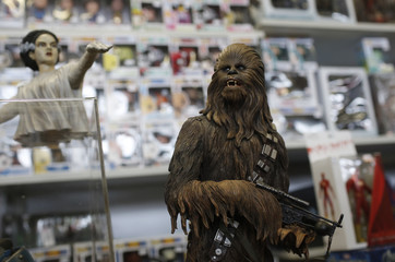"""Star Wars characters are on display at the cartoon fair """"Vienna Comix"""" in Vienna"""