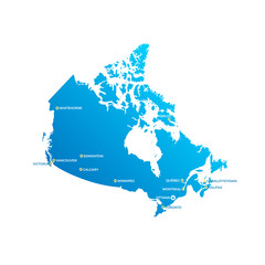 Canada Cities Map