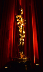 An Oscar statue is seen during the nominations announcements for the 88th Academy Awards in Beverly Hills, California