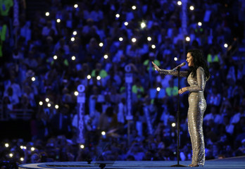 Singer Perry performs at the Democratic National Convention in Philadelphia