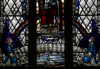 A stained glass window in All Saints Church celebrates the safe return of its service men and women in the 'doubly thankful' village of Flixborough