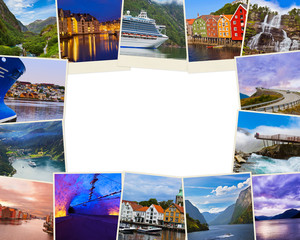 Frame made of Norway travel images (my photos)