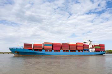 Cargo Container Ship Approaching Port of Savannah, GA - Buy