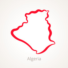 Algeria - Outline Map