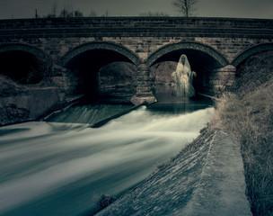 Ghost Under River Bridge