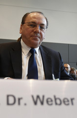 President of German Bundesbank Weber arrives to attend parliamentary budget commission in Berlin