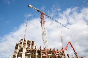 crane construction building
