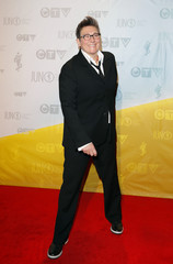 Canadian musician Lang poses on the red carpet during the Juno Awards in Regina.