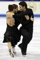 Crone and Poirier perform their Senior Original Dance routine at the 2010 Canadian Figure Skating Championships in London