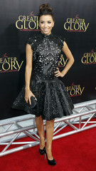 "Actress Eva Longoria, star of the film ""For Greater Glory"", arrives for the film's premiere in Beverly Hills"