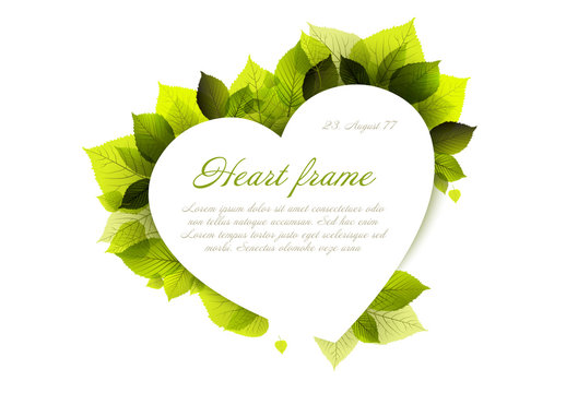 Spring Heart and Leaves Card Layout