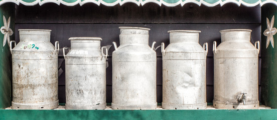 Traditional Dutch Milk Cans