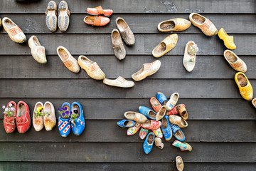 Wooden Clogs with Flowers