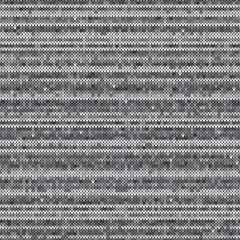 Knitted Wool Sweater Pattern Vector Imitation. Seamless Background with Shades of Gray Colors