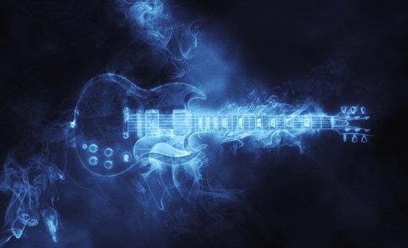 Awesome hard rock guitar in smoke form