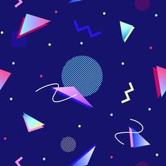 90s style geometric seamless pattern