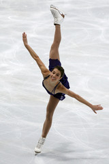 Alissa Czisny of the U.S. performs during the ladies free program in the Bompard Trophy event at Bercy in Paris
