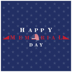 Isolated memorial day background with texture, Vector illustration