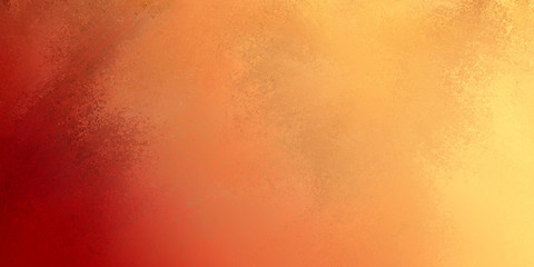 background in warm autumn colors of red orange gold and yellow with paint spatter grunge texture and soft lighting, rectangle banner shape for website headers