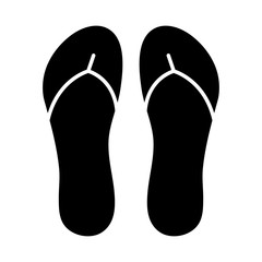 flip flops, slippers silhouette vector symbol icon design.