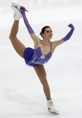 Marchei of Italy performs during women's free skating competition at European Figure Skating Championships in Bern