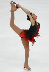 Japan's Murakami performs during the ladies free program at the ISU Grand Prix of Figure Skating Rostelecom Cup in Moscow