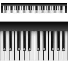 Classic piano horizontal keys