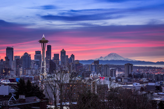 Sunrise on Seattle