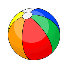 beach ball  vector symbol icon design.