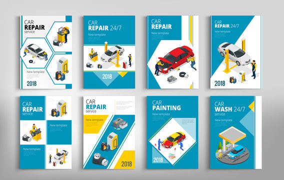 Flyers for Car repair or car service concept