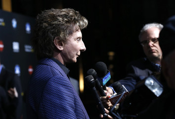 """Barry Manilow is interviewed at second annual """"Rebels With a Cause"""" gala at Paramount Pictures Studios in Los Angeles"""